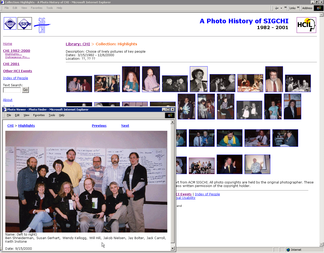 Screenshot of PhotoFinder Web