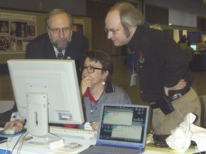 Picture of Ben Shneiderman, Jakob Nielsen and Nancy Frishberg
