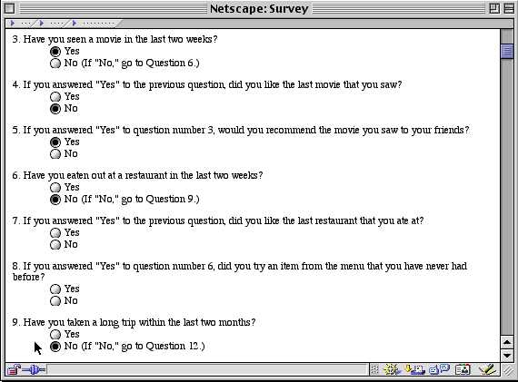 many questionnaires and surveys involve branches that lead to, Presentation templates