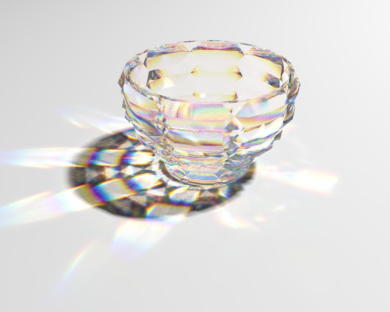 rendering crystal glass caustics