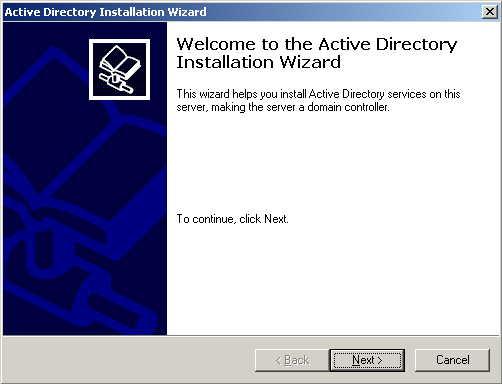 Setting Up A Windows 2000 Domain Controller