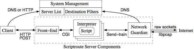 Scriptroute Network Measurement