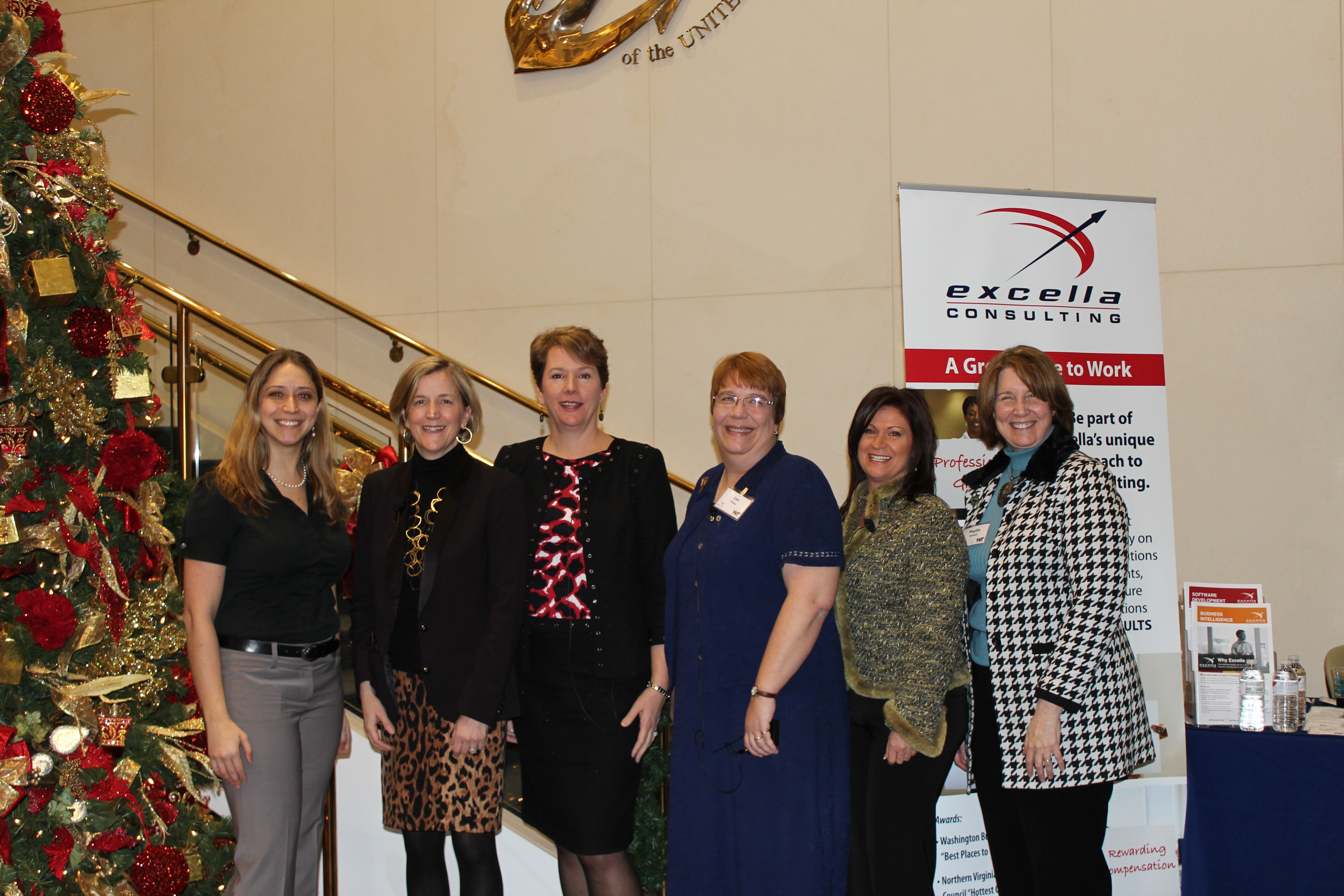 photo of Jan Plane (third from left) with the other Empowering Women in IT Panelists