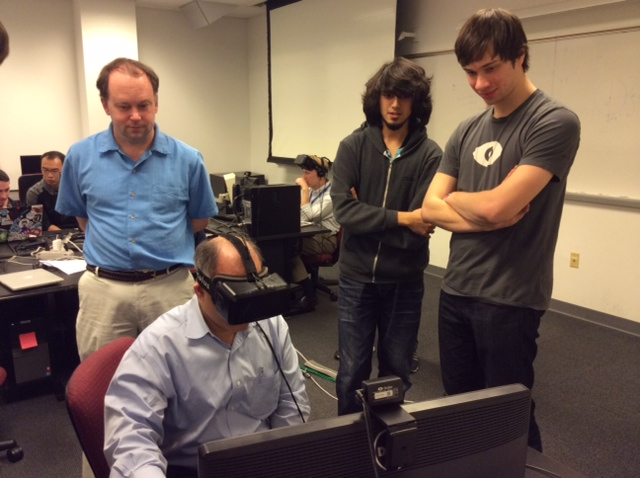 Students dive into virtual reality umd department of computer science - Div computer science ...