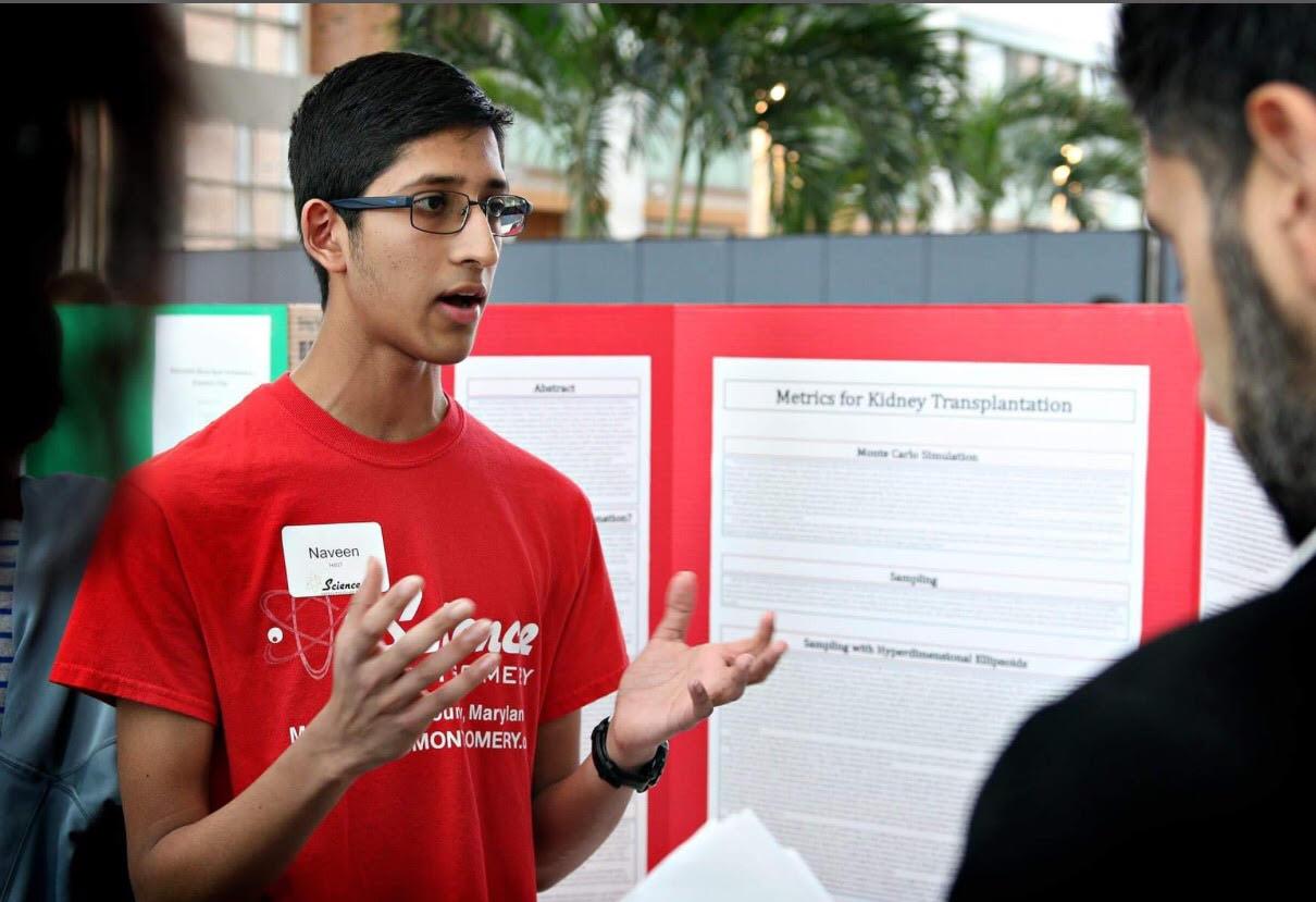 Descriptive image for Professor Aravind Srinivasan and Assistant Professor John Dickerson mentor award winning high school student