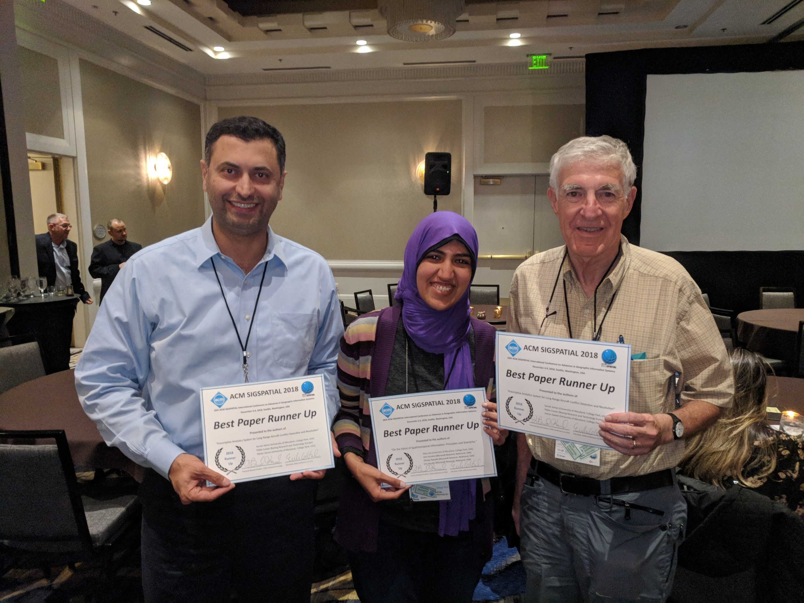 Descriptive image for Heba Aly, Samet Ayhan, and Hanan Samet Sweep Runners-up Categories in SIGSPATIAL Best Paper Competition