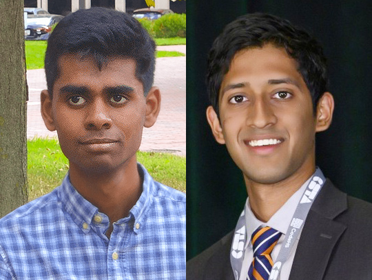 photo of Left to Right- Naveen Raman, Naveen Durvasula