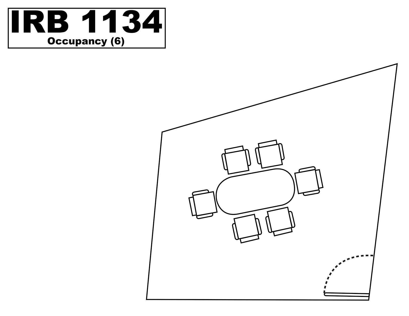 IRB1134 floorplan