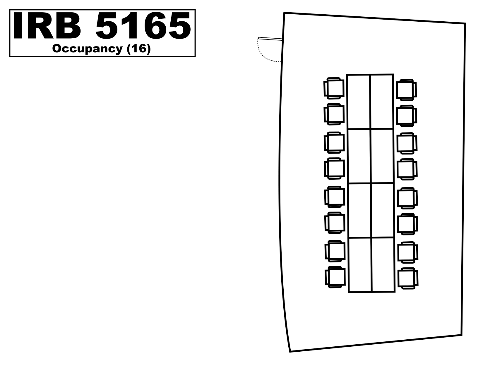 IRB5165 floorplan