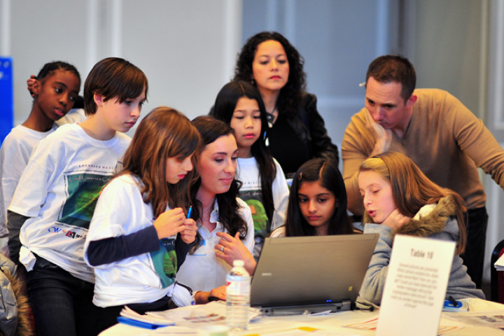 "photo of Girls Learning About Cybersecurity at ""Cool Careers in Cyber Security for Girls Workshop"""