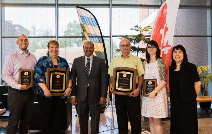Descriptive image for Davis, Plane, Levin, and Neuner win CMNS Board of Visitors' and Dean's Awards