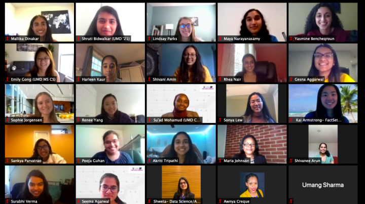 Descriptive image for Terps Attend Virtual Tapia Conference and Grace Hopper Celebration