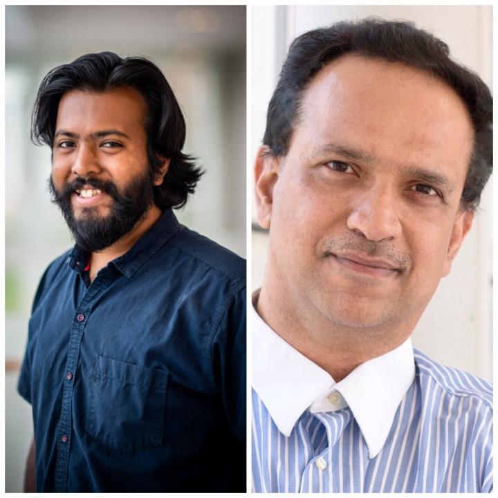 Left to Right- Aniket Bera, Dinesh Manocha