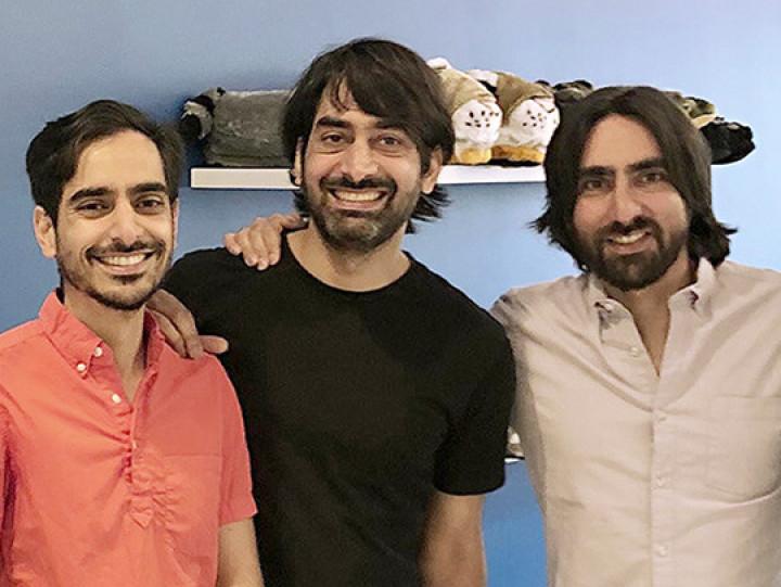 photo of From Left to right- Idris, Zeki and Haroon Mokhtarzada