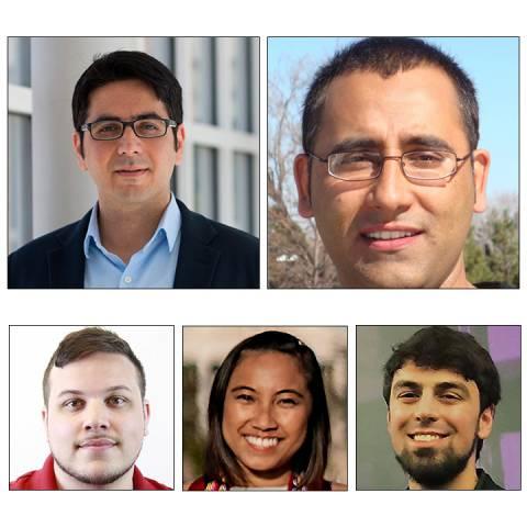 photo of (Top left-right) Soheil Feizi, Mohammad Nayeem Teli: (Bottom left to right) Gregory Harris, Katrina de los Reyes, Ajeet Gary