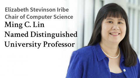 photo of Elizabeth Stevinson Iribe Chair of Computer Science Ming C. Lin