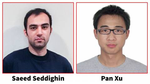 Descriptive image for Saeed Seddighin and Pan Xu awarded Larry S. Davis Doctoral Dissertation Awards for 2019