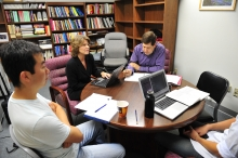 Image of Bonny Dorr in group meeting