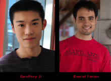 Geoffrey Ji and Daniel Farias Honored by 2014 Goldwater Scholarship Program