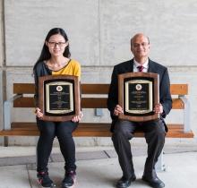 Descriptive image for Professor Aravind Srinivasan and PhD Candidate He He win CMNS Board of Visitors' Awards