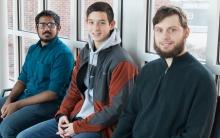 L-R: Saurav Das, Spencer Chen, and Willem Wyndham