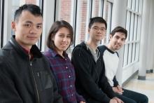 Peng Shangfu, Mahsa Derakhshan, John Tan, and Hadi Yami
