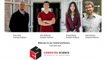 Descriptive image for Department hires four new professors