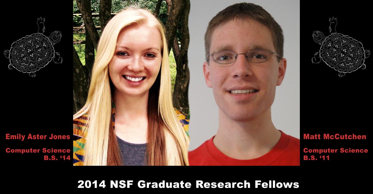 Descriptive image for Emily Jones and Matt McCutchen Awarded National Science Foundation Graduate Research Fellowships
