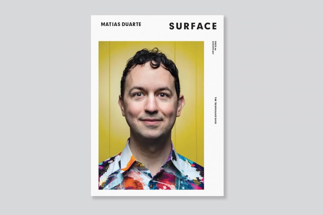 Descriptive image for Matias Duarte '96 featured in magazines on design