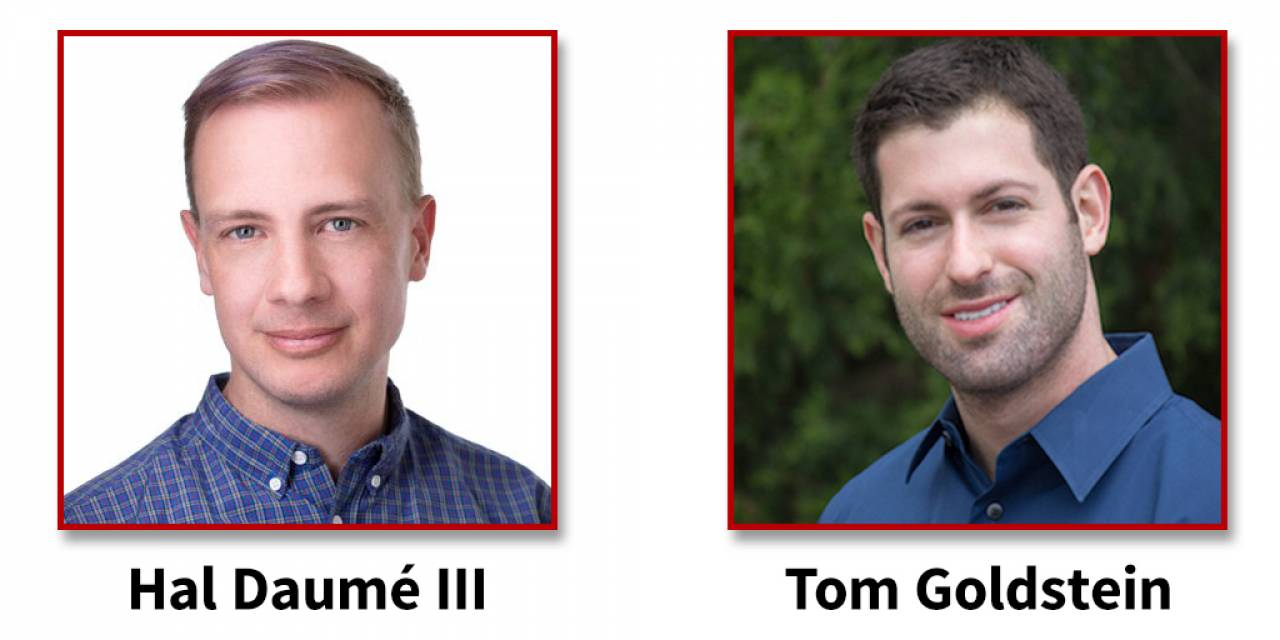 Descriptive image for Hal Daumé III and Tom Goldstein Selected as Pier Giorgio Perotto Endowed Professors