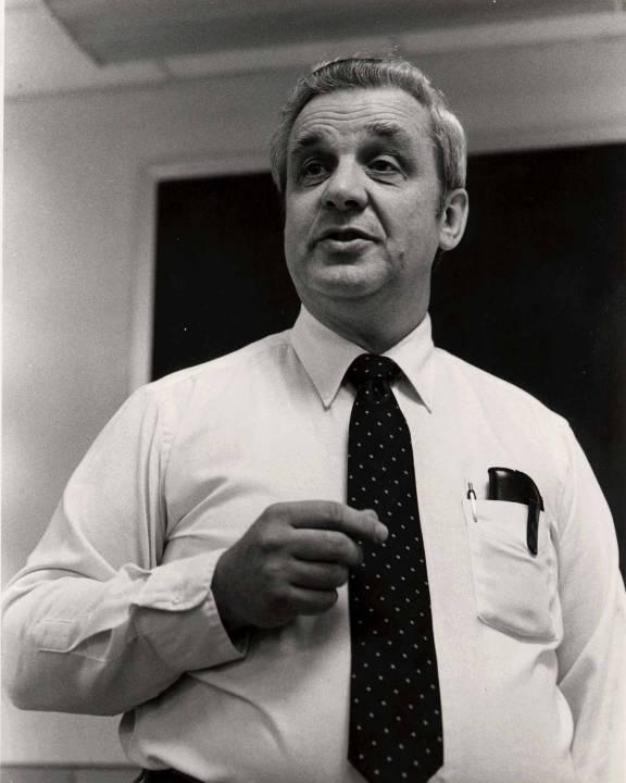 photo of Professor Emeritus Raymond Miller, photo by Ben Shneiderman