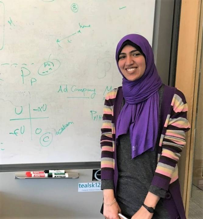 """Descriptive image for PhD student Heba Aly selected to participate in """"Rising Stars in EECS 2019""""."""