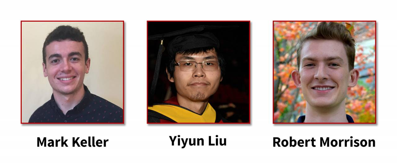 Descriptive image for THREE students selected for Honorable Mention for the 2020 Computing Research Association's (CRA) Outstanding Undergraduate Researcher Award