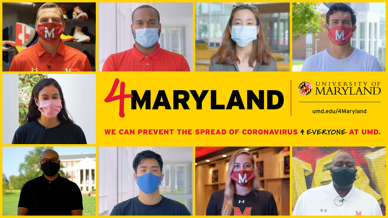 4Maryland Promo 4Maryland slide with people wearing masks