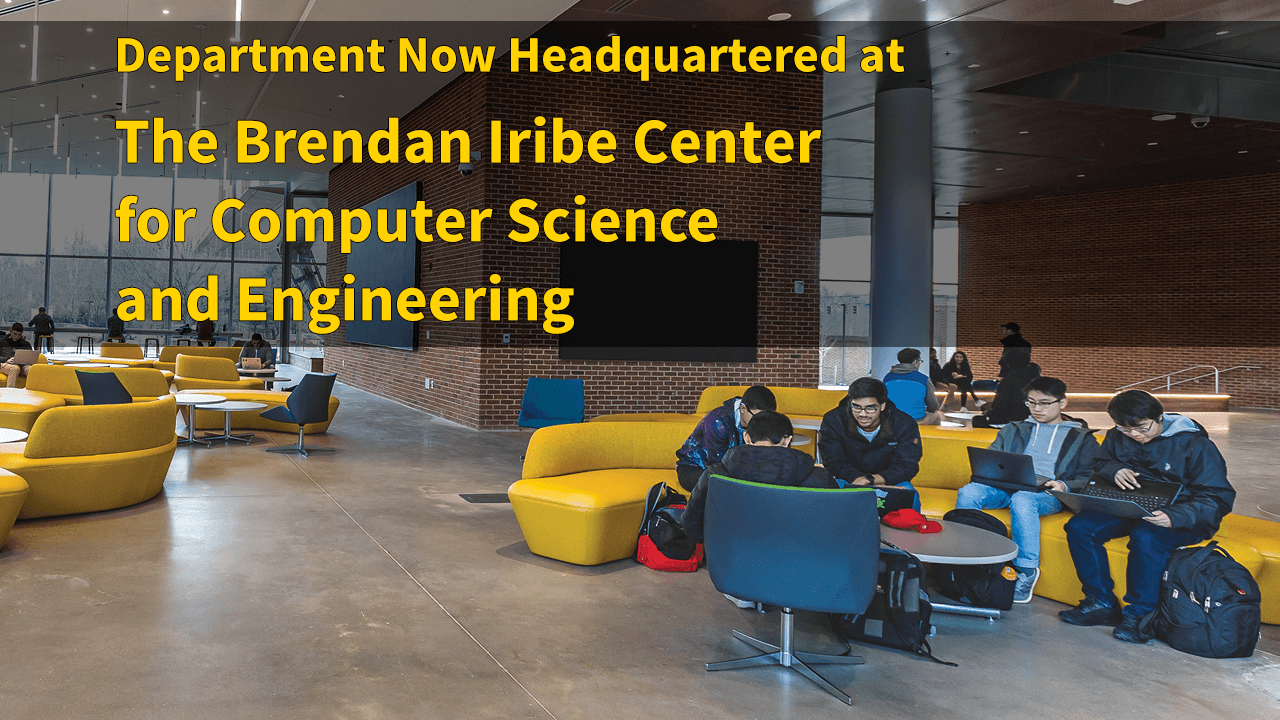 Department Now Headquartered at the Iribe Center Descriptive Image