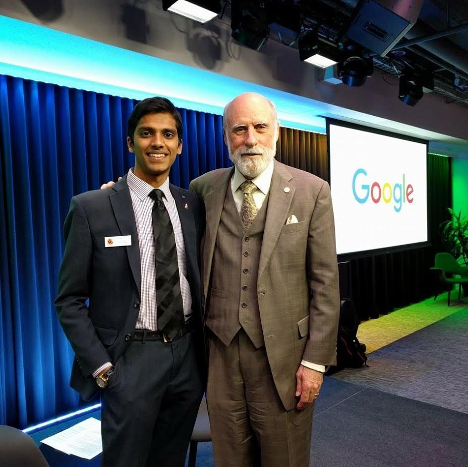 Wali Rifai and Dr. Vint Cerf