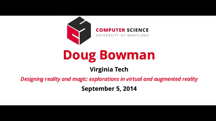 Video title card for Bowman - Designing reality