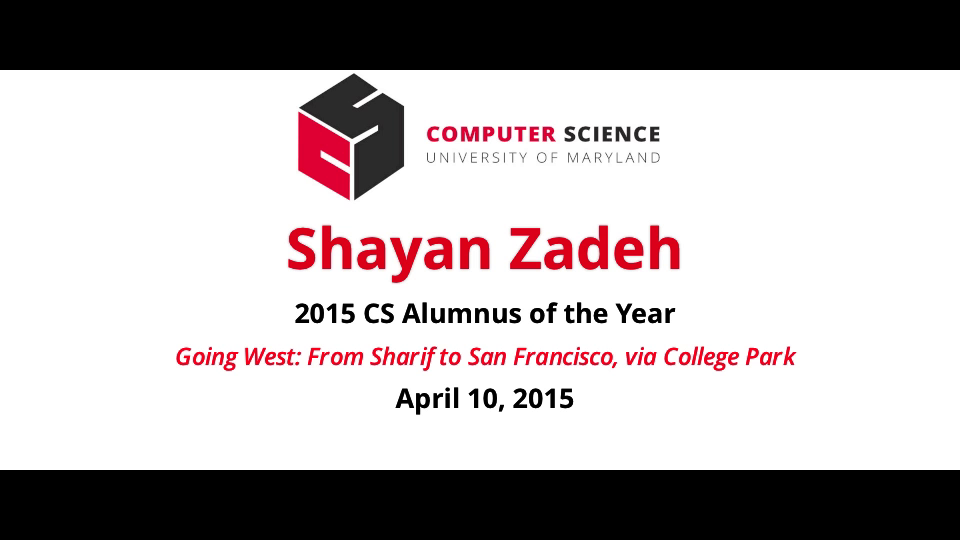 Video title card for 2015 Colloquium Zadeh