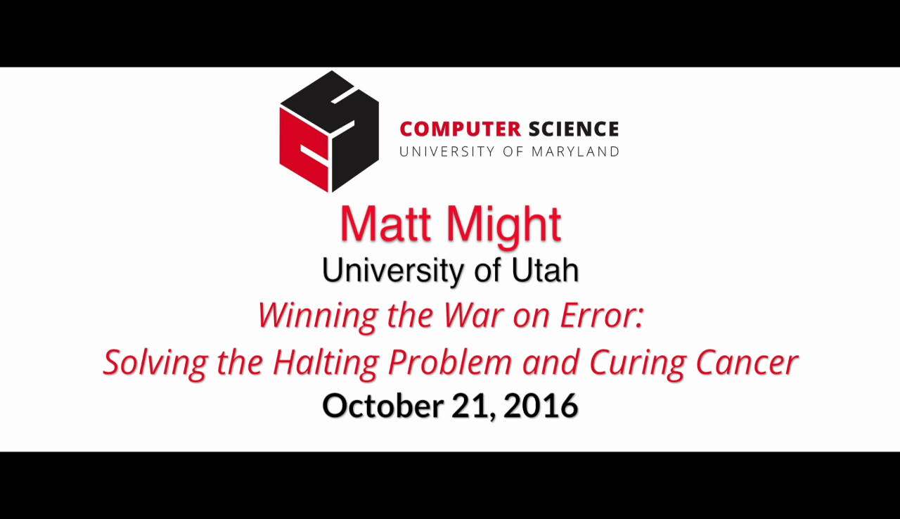 Video title card for 2016 Colloquium Might