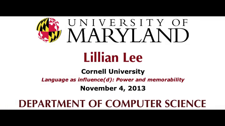 Video title card for Lee - Language as influence(d): Power and memorability