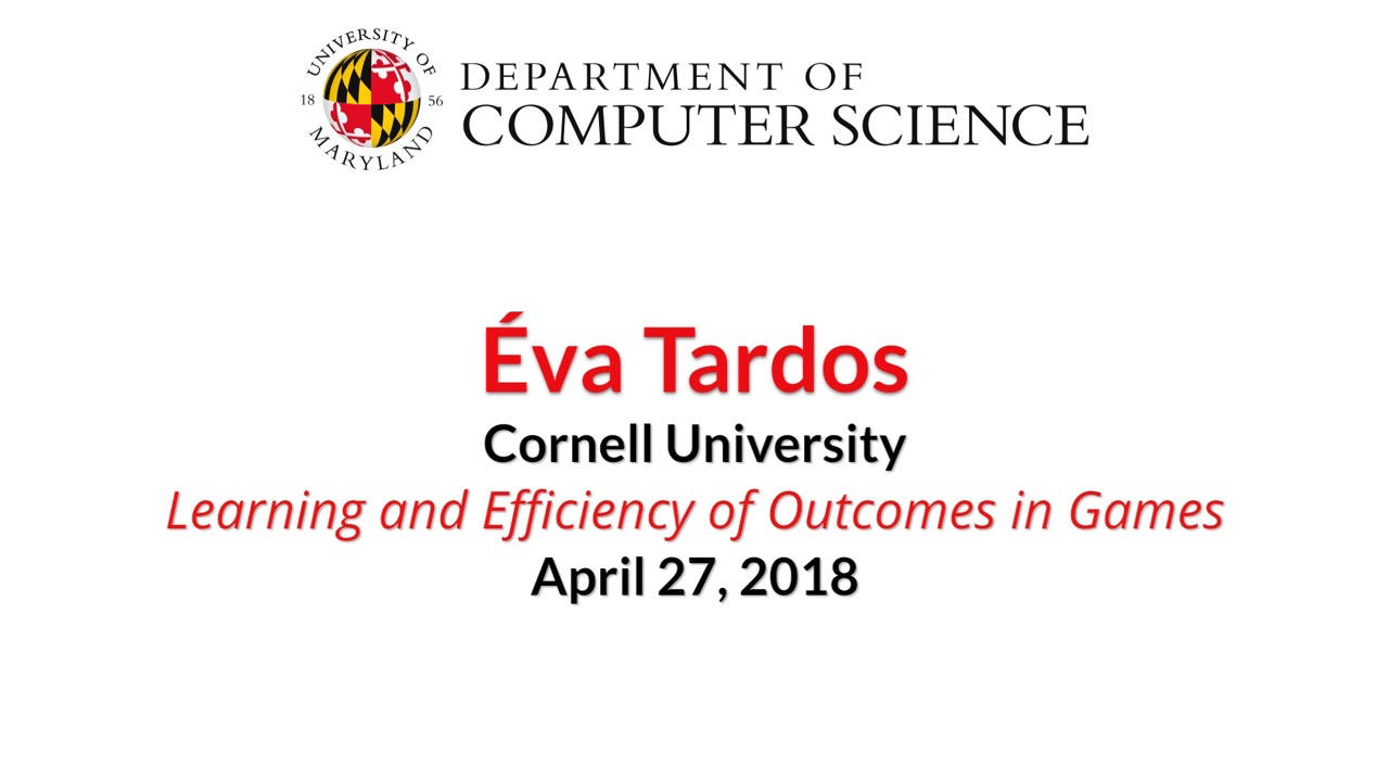 Video title card for 2018 Colloquium Tardos