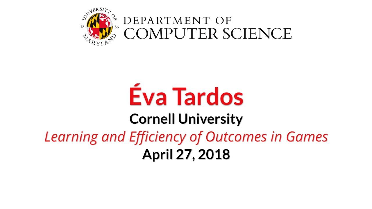 Video title card for 2018 Colloquium Tardos